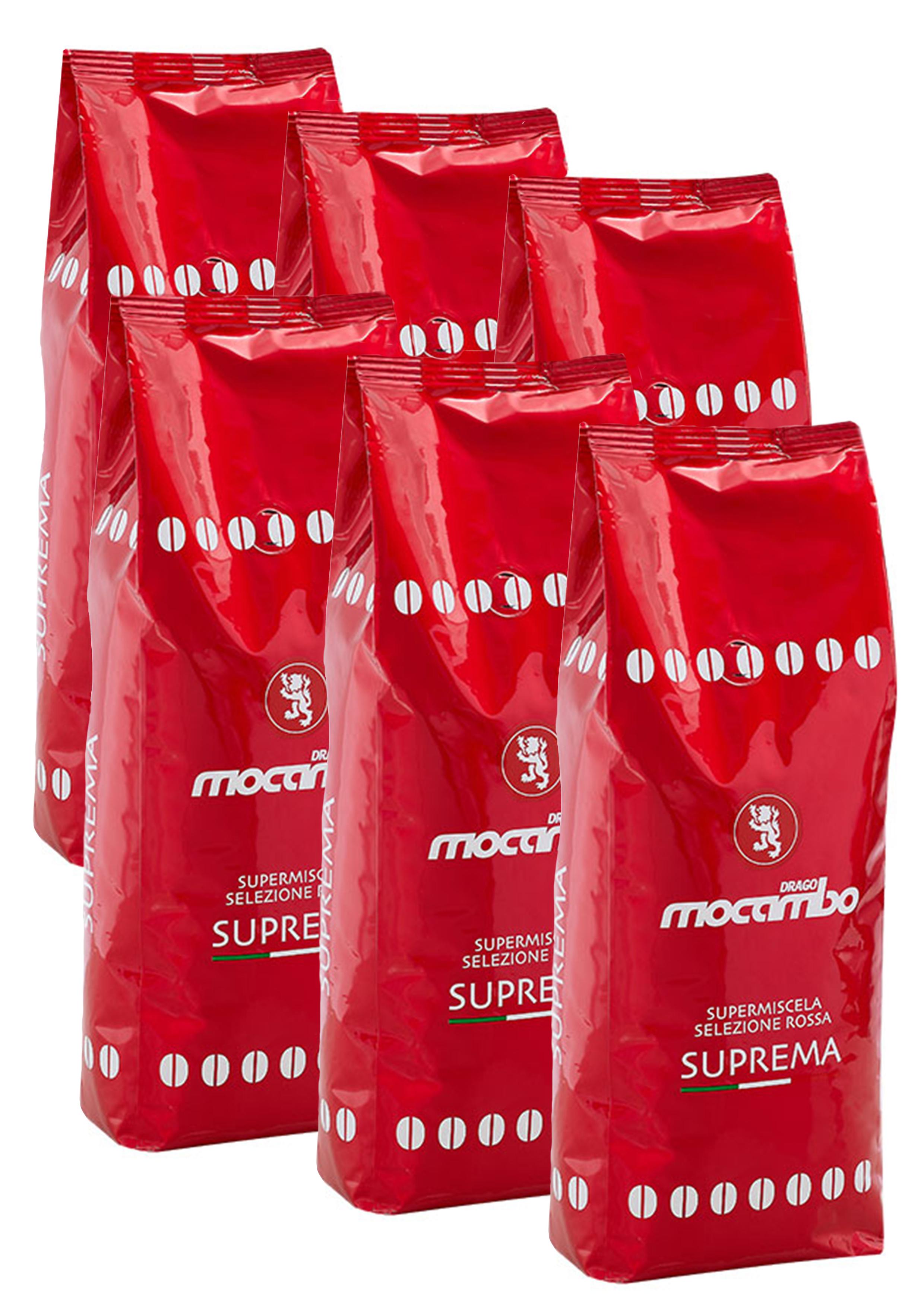 Mocambo Suprema, Espresso Kaffee Bohnen 6x 1 kg