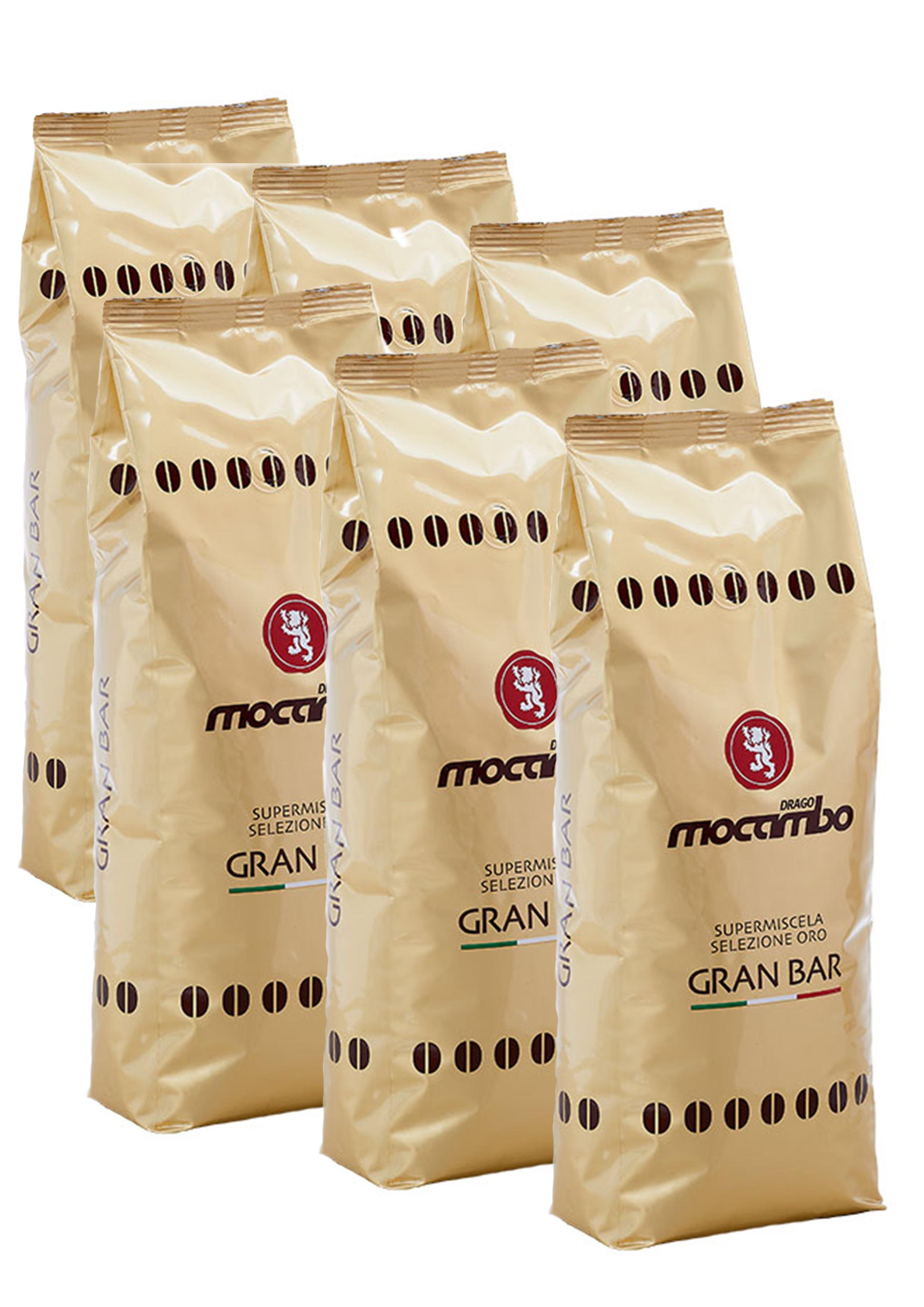 Mocambo Gran Bar, Espresso Kaffee Bohnen 6x 1 kg