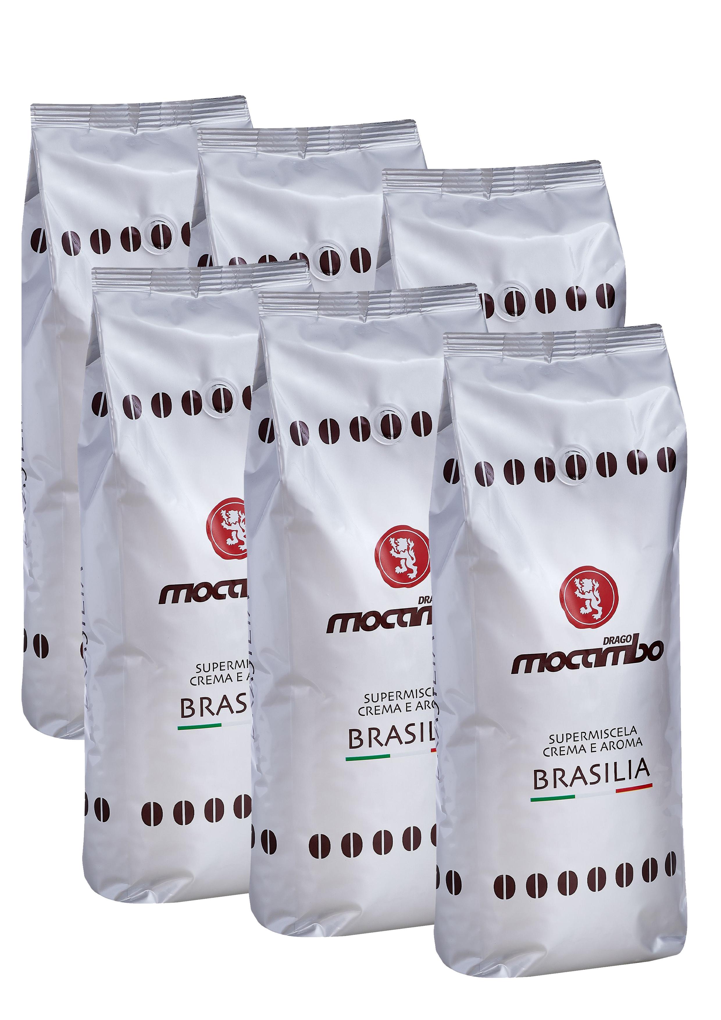 Mocambo Brasilia, Espresso Kaffee Bohnen 6x 1 kg