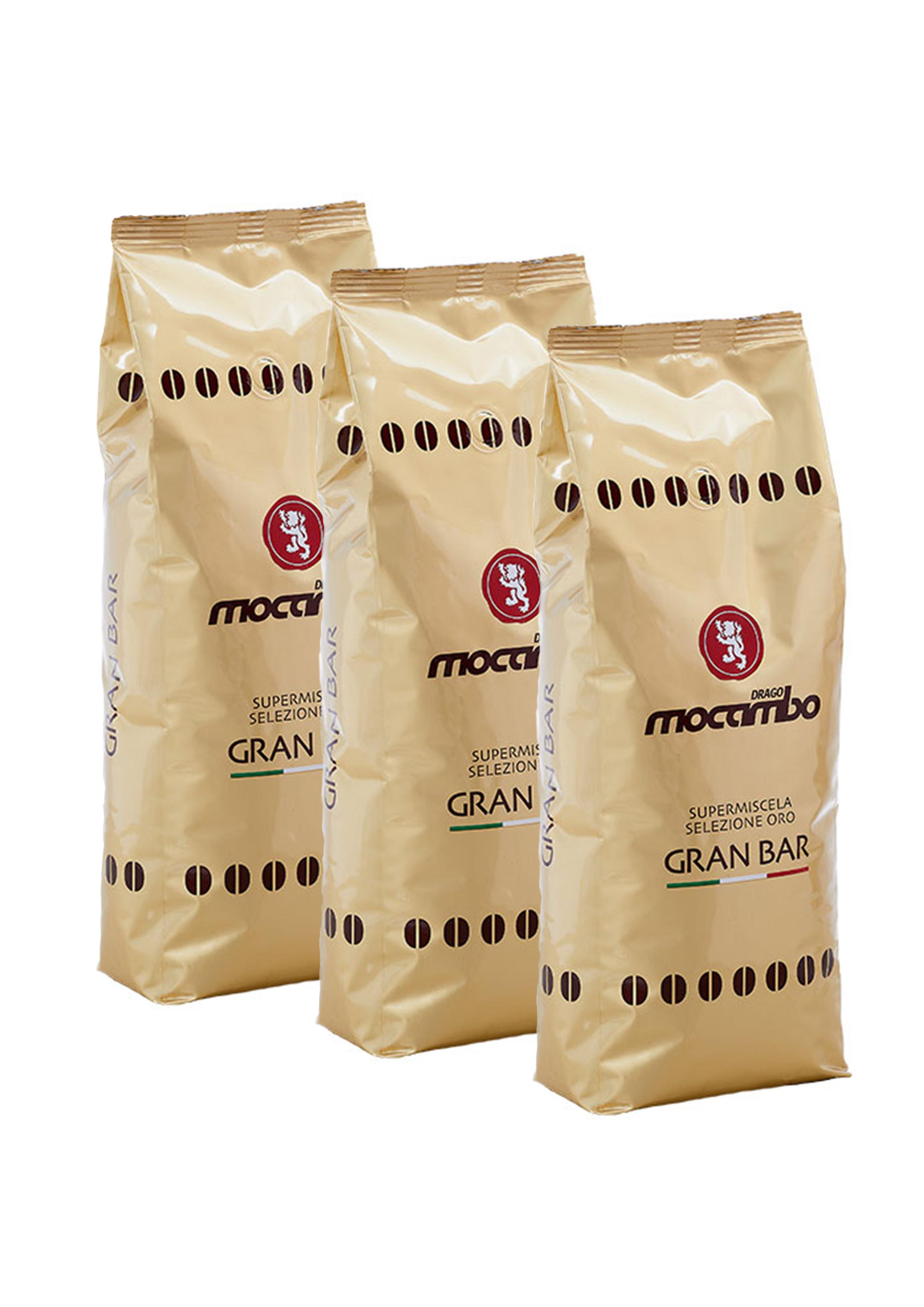 Mocambo Gran Bar, Espresso Kaffee Bohnen 3x 1 kg