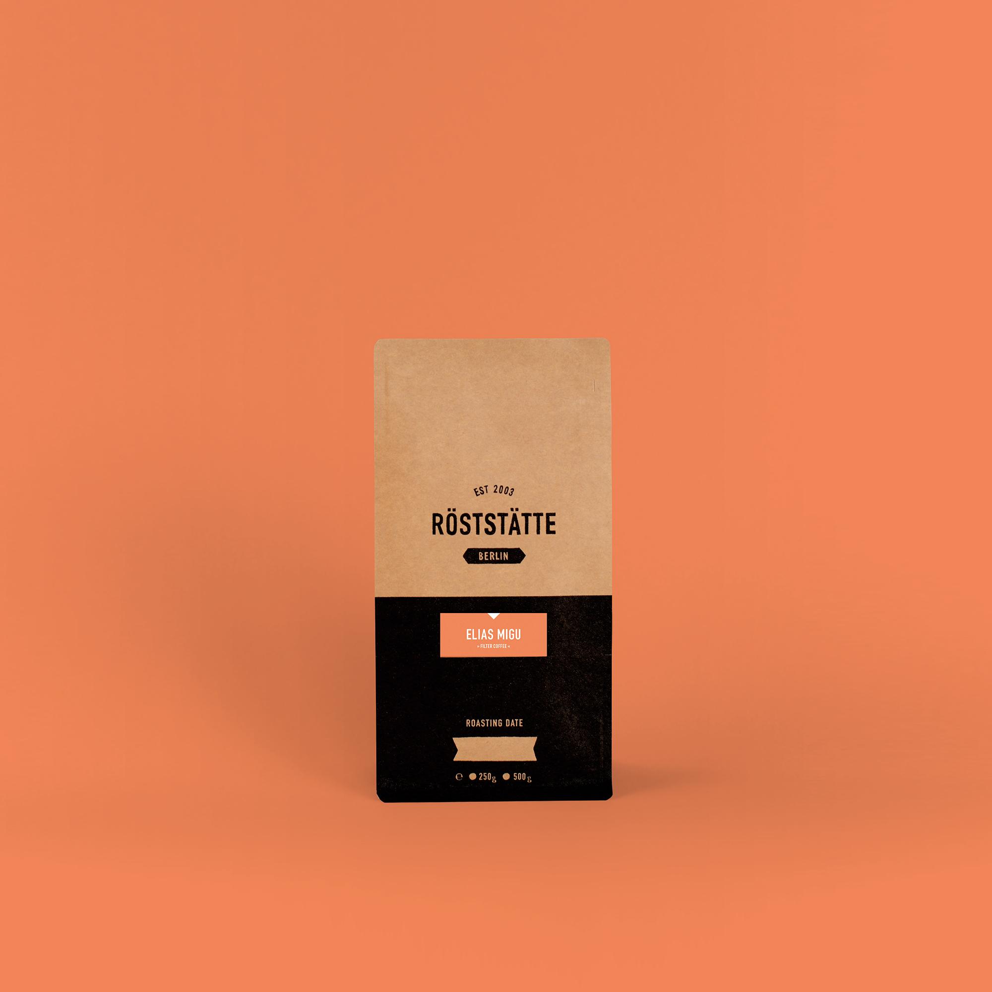 Röststätte Berlin Kaffee Elias Migu 250 g