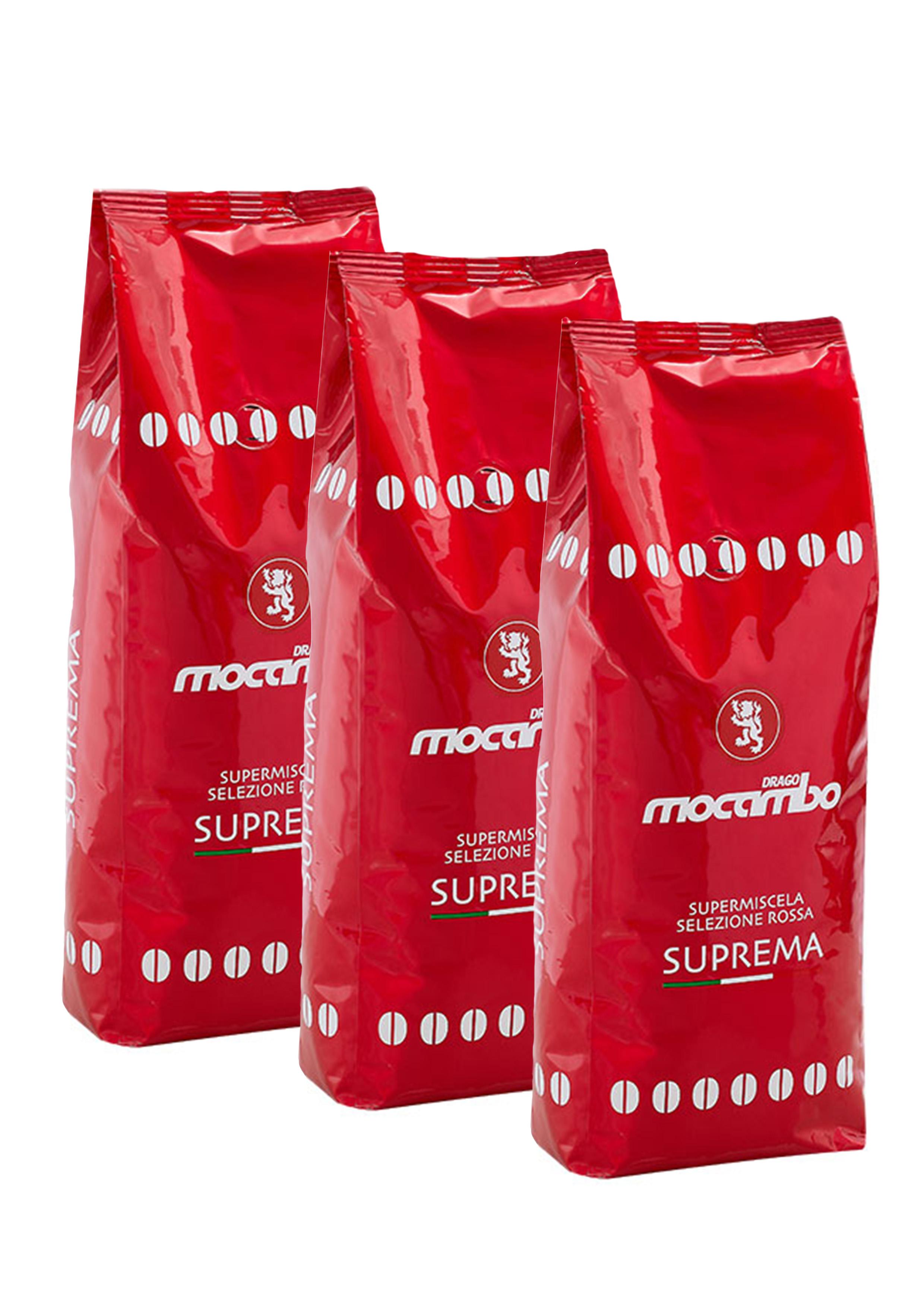 Mocambo Suprema, Espresso Kaffee Bohnen 3x 1 kg